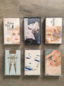 lot de 6 cassettes audio MADONNA