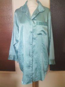 Liquette de nuit bleu turquoise femme taille 38/40