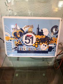 Plaque émaillée Pernod 51 par Eric Cantona