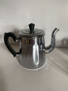 Verseuse sucrier pot à lait vintage en cuivre chromé