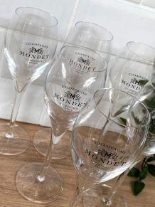 6 flûtes à champagne