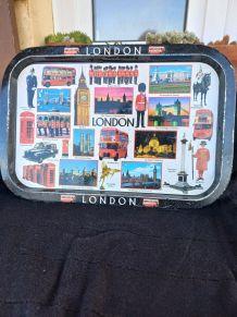 Plateau métal Vintage Vues de Londres