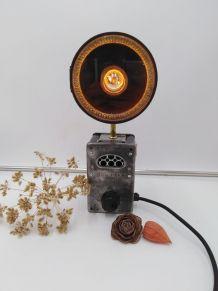Lampe vintage/Lampe industrielle /Detournement d'objet
