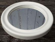 miroir rond en plastique blanc