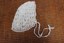 ancienne robe de baptême avec bonnet fait main broderie angl