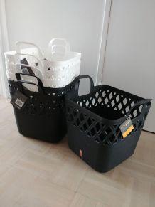 3+3 paniers noir et blanc – Neuf