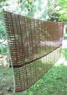 Grand rideau vintage à pompons