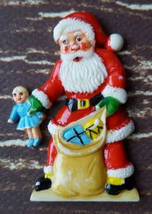 Bijou Broche vintage kitsch années 50 Père Noël
