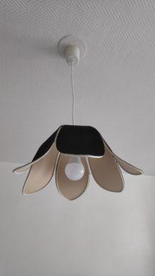 suspension 6 pétales de lotus noire