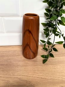Vase en céramique décor imitation bois