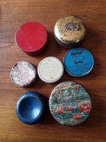 Lot 7 boîtes de médicaments anciennes