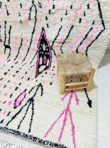 254x147cm Tapis berbere marocain