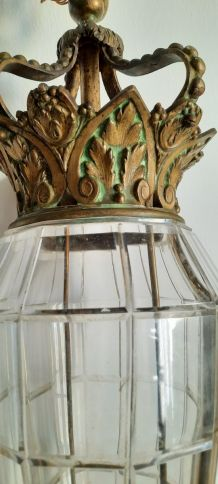 Lustre bronze et verre