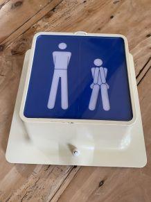 Enseigne lumineuse toilettes wc