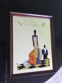Ancien miroir publicitaire art déco Vogue très bon état