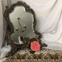 Miroir de table signé PAVOT