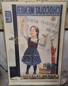 Publicité cartonnée chocolat menier