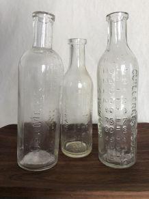 Set de 3  bouteilles graduées