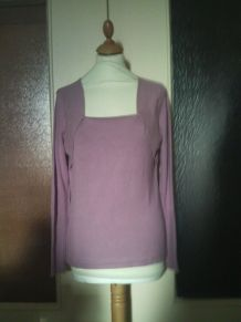 Pull manche longue rose taille 38 sans marque