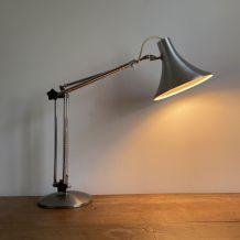 Lampe articulée vintage. Inox et chrome. 1960 70.