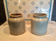 2 pots en grès vintage