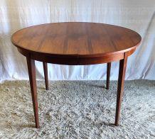 Table à manger ronde en palissandre – années 60