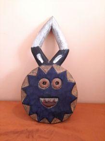 Petit masque africain Baoulé Lunaire ou Kplé Kplé,
