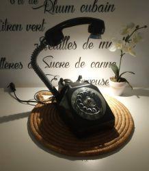 LAMPE À POSER RECYCLAGE TÉLÉPHONE VINTAGE '76