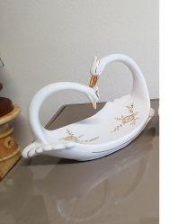Corbeille signe décorative en porcelaine  ( ref K2a )