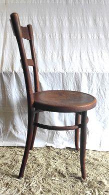 Chaise bistrot par Fischel en bois courbé – début XXème