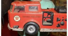 Large vintage Buddy L TEXACO FIRE CHIEF Voiture de pompiers