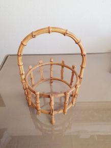 Suspensoir à vase en bambou ( ref K 19 )