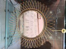 Petit miroir soleil vintage