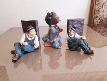 Statuettes petits bonhomme lot de 3 ( ref K 29)