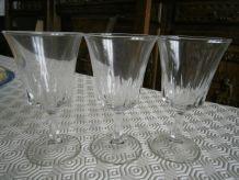 Lot de 3 verres à pied vintage
