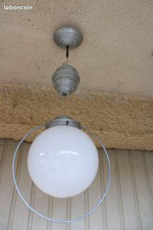 Suspension, lustre aluminium années 50/60.