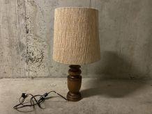 Lampe en bois années 70