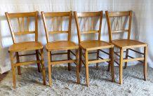 Lot de 4 chaises bistrot « Luterma » – années 60