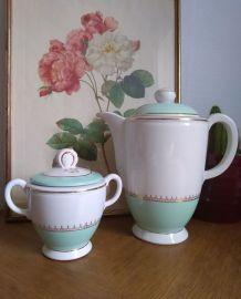 Théière et sucrier Lunéville Vintage