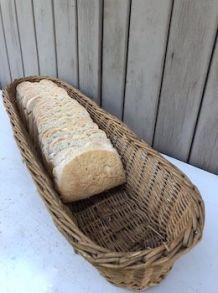 Panière à pain, corbeille osier tressé