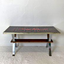 Table basse céramique vintage 60's