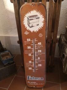 Thermomètre publicitaire en tôle peinte