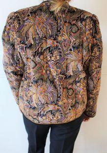 blazers veste chaude velours motif année 70-80