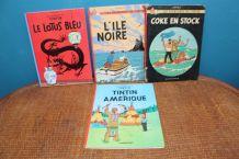 Lot livre BD les aventures de tintin