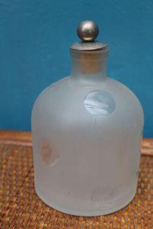 ancien vase transparent motif pois année 50-60