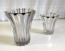 Duo de vases à godrons style Art Déco – années 50/60