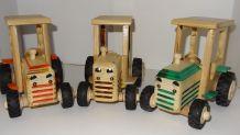 tracteur bois  fait main