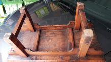 TABLE BASSE BOIS ORME MONGOLIE 1900