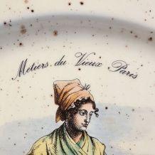 """assiette de collection Primula """"les vieux métiers de Paris"""""""