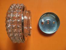 Applique ou plafonnier vintage année 60 en verre